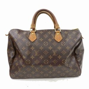 Auth Louis Vuitton Speedy 35 Bag Satchel #1081L12